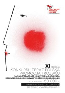 """XI edycja konkursu prac magisterskich """"Teraz Polska Promocja i Rozwój"""""""