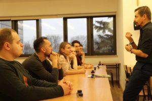 Lubelska Szkoła Dyplomacji- zajęcia z kaligrafii