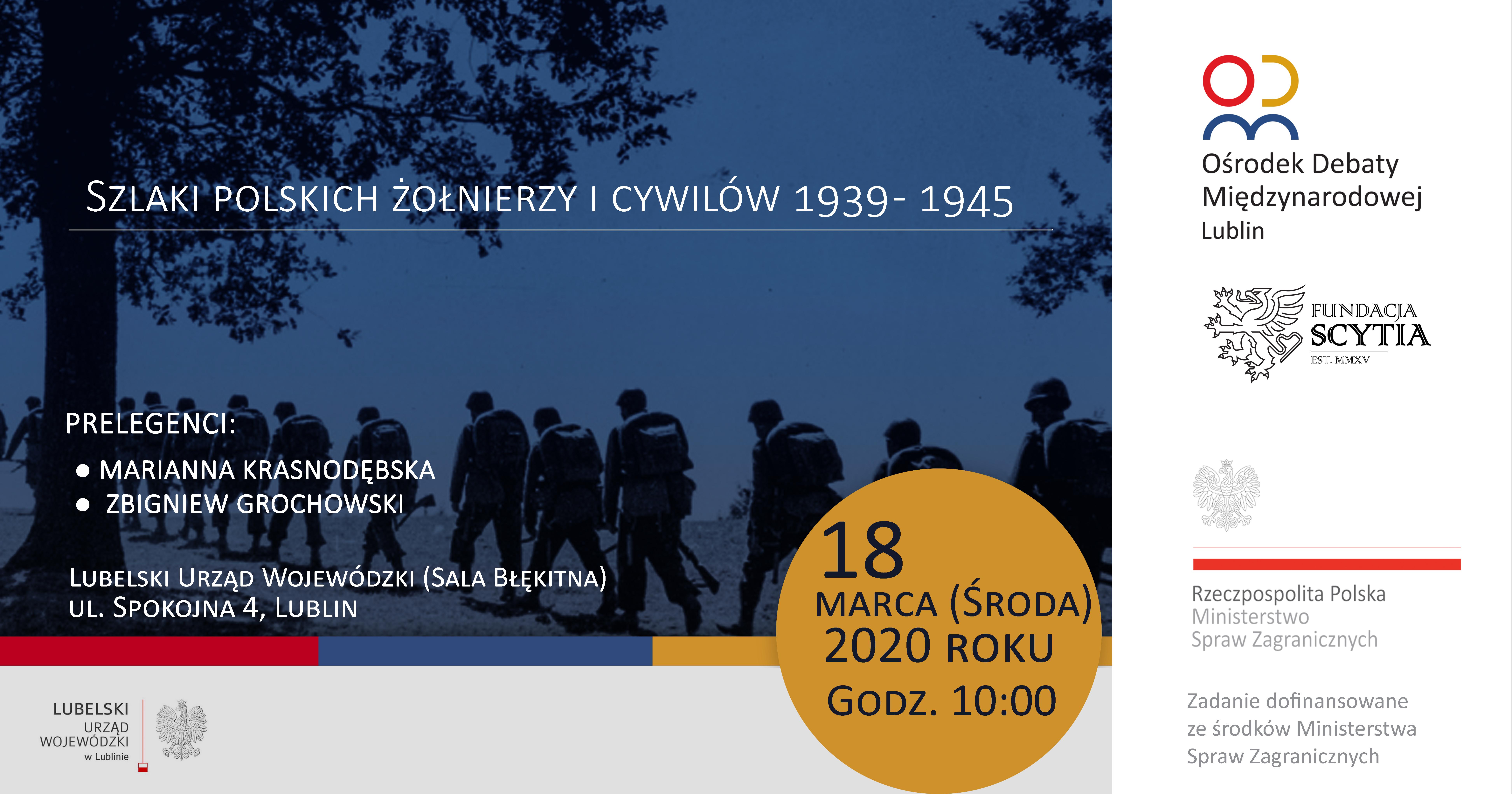 """Spotkanie """"Szlaki polskich żołnierzy i cywilów 1939 – 1945"""""""