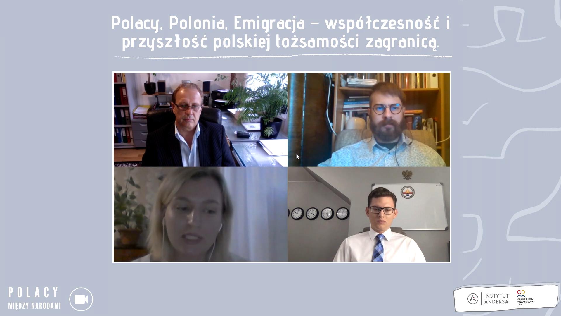 """Polacy między narodami #2 – debata """"Polacy, Polonia, Emigracja – teraźniejszość i przyszłość polskiej tożsamości zagranicą"""""""