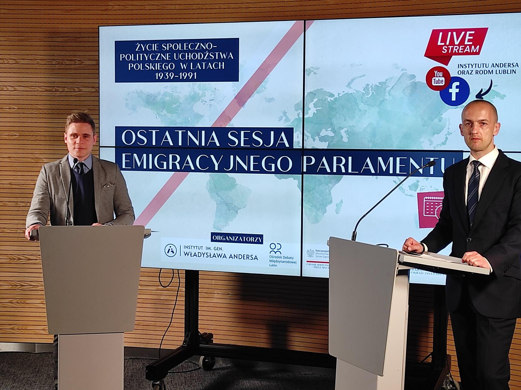 """Relacja z konferencji """"Ostatnia sesja emigracyjnego parlamentu"""""""